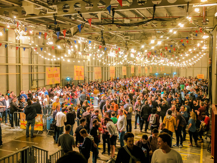 All three beer halls at Beavertown Extravaganza filled up very quickly