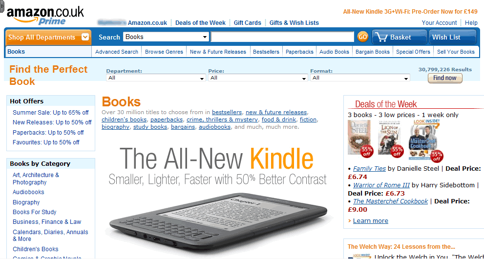 Amazon.co.uk - Accessed using a desktop computer