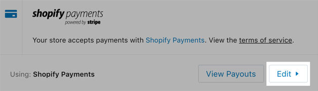 Edit Payments button indication