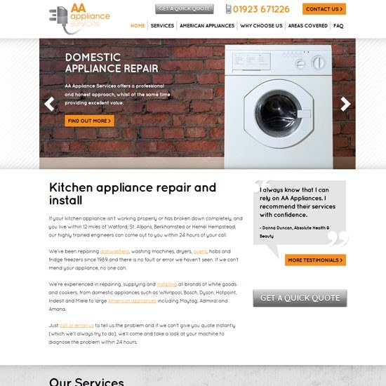 AA Appliances Image
