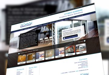 Web Design for Sliding Partitions & Movable Walls Company