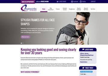 Responsive CMS Website for Opticians