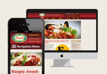 Responsive CMS Website for Organic Pasta Distributor